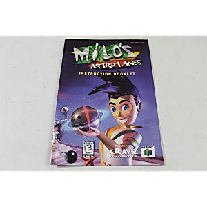 Manual - Milo's Astro Lanes - Nintendo N64