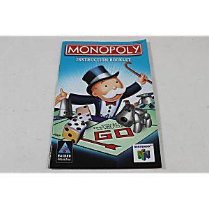 Manual - Monopoly 64 - Nintendo N64