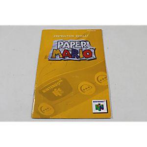 Manual - Paper Mario - Rare Classic Nintendo N64