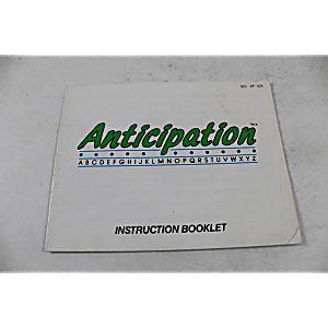 Manual - Anticipation - Nes Nintendo 1-4 Player