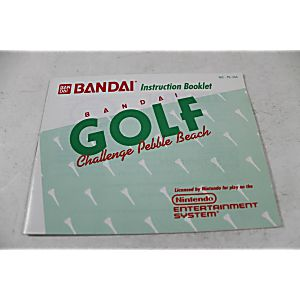 Manual - Bandai Golf Challenge At Pebble Beach
