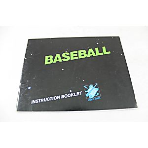 Manual - Baseball - Classic Nes Nintendo