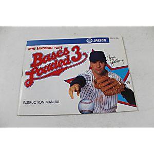 Manual - Bases Loaded 3 III - Nes Nintendo