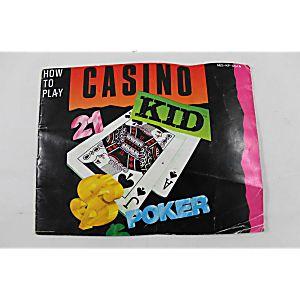 Manual - Casino Kid - Rare Nes Nintendo