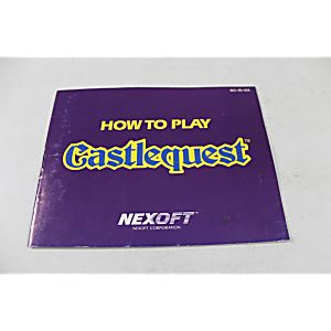 Manual - Castlequest - Nes Nintendo Castle Quest