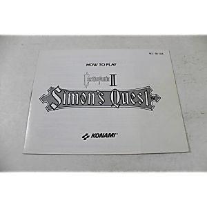 Manual - Castlevania II 2 Simon's Quest - Nes Nintendo