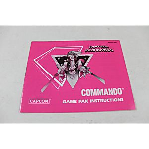 Manual - Commando - Fun Nes Nintendo