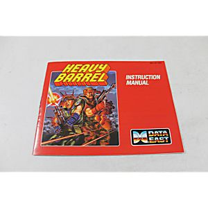 Manual - Heavy Barrel - Nes Nintendo 2 Player