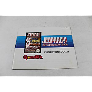 Manual - Jeopardy 25Th Anniversary Edition - Nes Nintendo