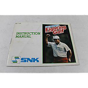 Manual - Lee Trevino's Fighting Golf - Nes Nintendo