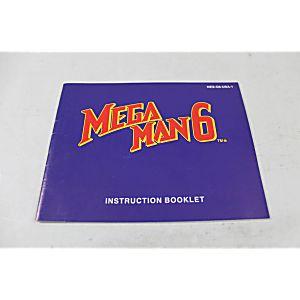 Manual - Mega Man Vi 6 - Rare Nes Nintendo Megaman