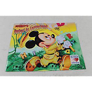 Manual - Mickey's Safari In Letterland - Nes Nintendo