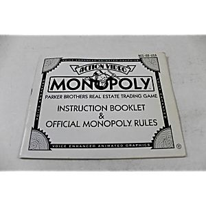 Manual - Monopoly - Fun Nes Nintendo
