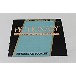 Manual - Pictionary - Fun Classic Nes Nintendo