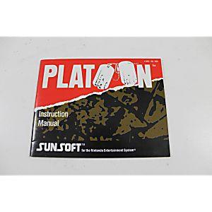 Manual - Platoon - Classic Nes Nintendo
