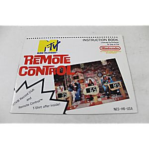 Manual - Mtv's Remote Control - Nes Nintendo