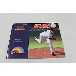 Manual - Roger Clemens Mvp Baseball - Nes Nintendo