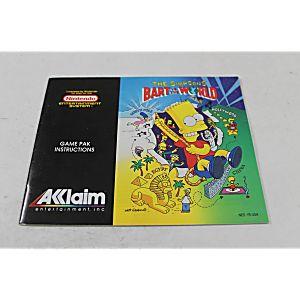 Manual - Bart Vs. The World - Nes Nintendo Simpsons