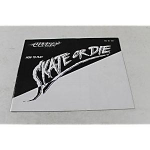 Manual - Skate Or Die - Classic Nes Nintendo