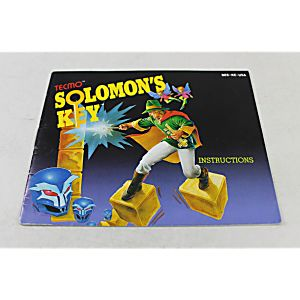 Manual - Solomon's Key - Rare Nes Nintendo Puzzle