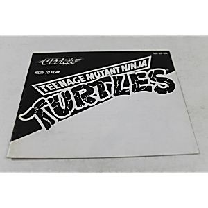 Manual - Teenage Mutant Ninja Turtles - Tmnt Nes Nintendo