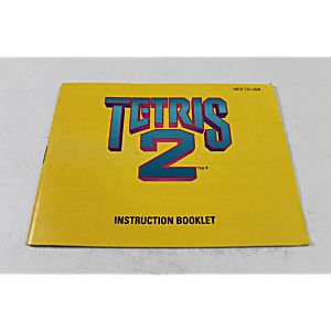 Manual - Tetris II 2 - Sequel To The Classic Nes Nintendo