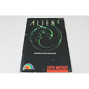 Manual - Alien 3 - Snes Super Nintendo