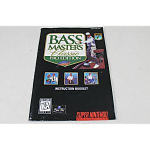 Manual - Bass Masters Classic Pro Edition - Snes Super Nintendo