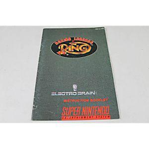 Manual - Boxing Legends Of The Ring - Snes Super Nintendo