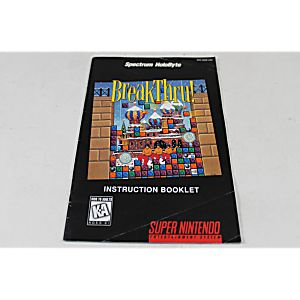 Manual - Breakthru - Snes Super Nintendo