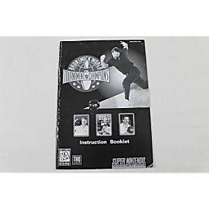 Manual - Brunswick World Tournament - Snes Super Nintendo