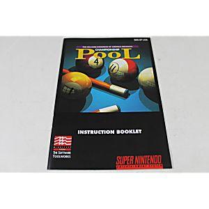 Manual - Championship Pool - Snes Super Nintendo