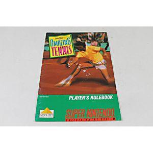Manual - David Crane's Amazing Tennis -Snes Super Nintendo