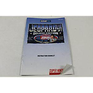 Manual - Jeopardy Deluxe Edition - Snes Super Nintendo
