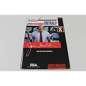 Manual - John Madden Football 93 - Snes Super Nintendo