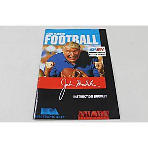 Manual - John Madden Football - Snes Super Nintendo