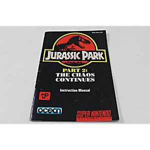 Manual - Jurassic Park 2 - Snes Super Nintendo