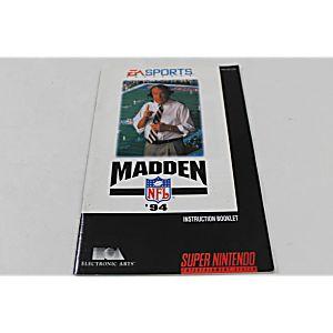 Manual - Madden Nfl 94