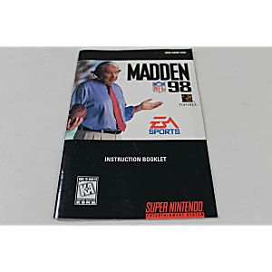 Manual - Madden Nfl 98