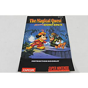 Manual - Magical Quest W/ Mickey Mouse Snes Super Nintendo