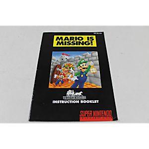 Manual - Mario Is Missing - Snes Super Nintendo