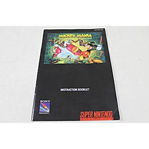 Manual - Mickey Mania - Snes Super Nintendo