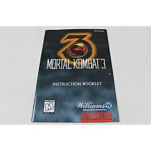 Manual - Mortal Kombat III 3 - Snes Super Nintendo