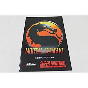 Manual - Mortal Kombat - Snes Super Nintendo