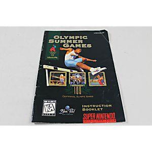 Manual - Olympic Summers - Snes Super Nintendo