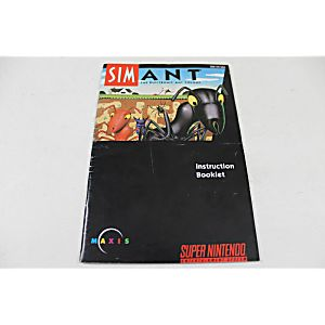 Manual - Simant - Snes Super Nintendo Sim Ant