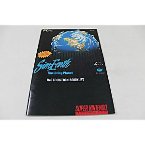 Manual - Sim Earth The Living Planet - Snes Super Nintendo