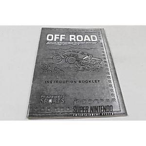 Manual - Super Off-Road Baja - Snes Super Nintendo