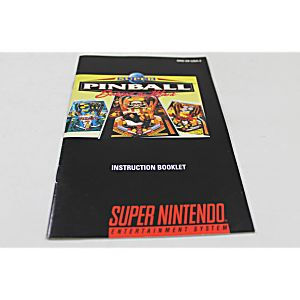 Manual - Super Pinball - Snes Super Nintendo