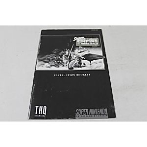 Manual - Super Star Wars Empire Strikes Back Snes Nintendo